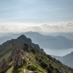View from Rifugio Rosalba - Mandello del Lario, Lecco, Italy - August 8, 2018