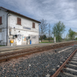 Train Station - San Giacomo, Guastalla, Reggio Emilia, Italy - March 31, 2012