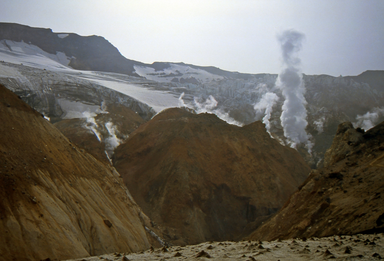 Fumarole in the Mutnovsky Volcano - Kamčatka, Russian Federation - Summer 1993