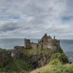 Dunluce Castle - Bushmills, Northern Ireland, UK - August 16, 2017