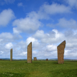 Standing Stones of Stenness - Orkney, Scotland, UK - June 1, 1989