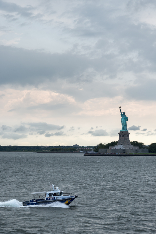Statue of Liberty - Staten Island Ferry, New York, NY, USA - August 19, 2015