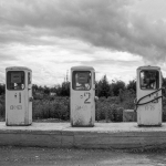 Old Gas Pumps - Near Petropavlovsk, Kamčatka, Russian Federation - Summer 1993
