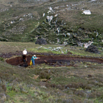Digging Peat - Isle of Harris, Scotland, UK - May 22, 1989