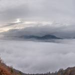 Cavedine Valley covered by clouds - Vezzano, Trento, Italy - November 1, 2019