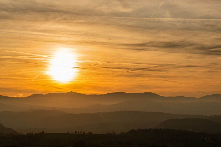 Sunset - Canossa, Reggio Emilia, Italy - October 5, 2019