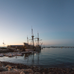 Mayflower II at Twilight - Plymouth, Massachusetts, USA - August 13, 2015