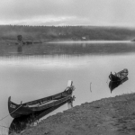 Two Boats - Karasjok, Norway - July 1989